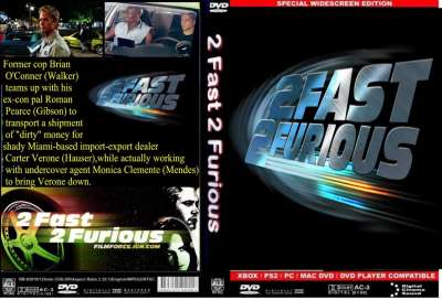 2 Fast 2 Furious (DVD Cover)
