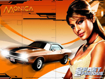 Eva Mendes as Monica with Dodge Challenger
