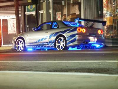 2 Fast 2 Furious Movie with car R34 Skyline