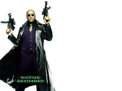 Matrix Reloaded   Morpheus Wallpaper