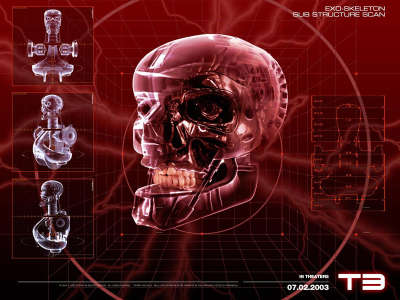 Terminator 3   Skull Endoskeleton