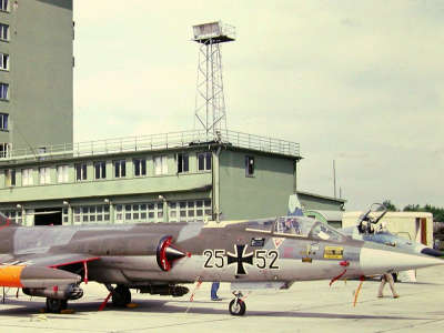 WEST GERMAN AF F104 BITBURG AFB GERMANY