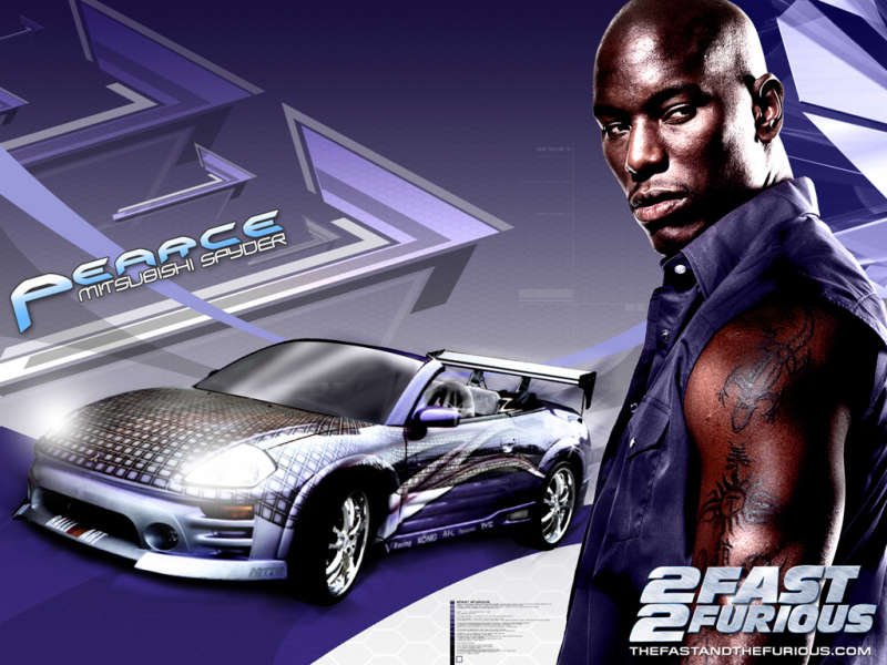 Peace with Mitsubishi Spyder from 2 fast 2 furious