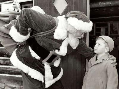 Santa And Kid