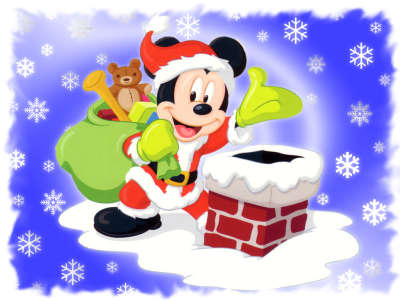Mickey Mouse is Santa Claus