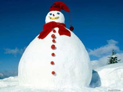 Big Santa Snowman