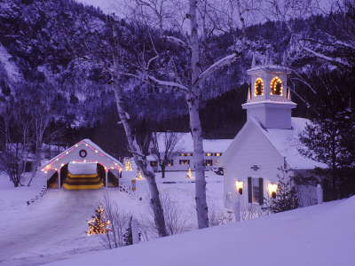 Peacfull town on the christmas night