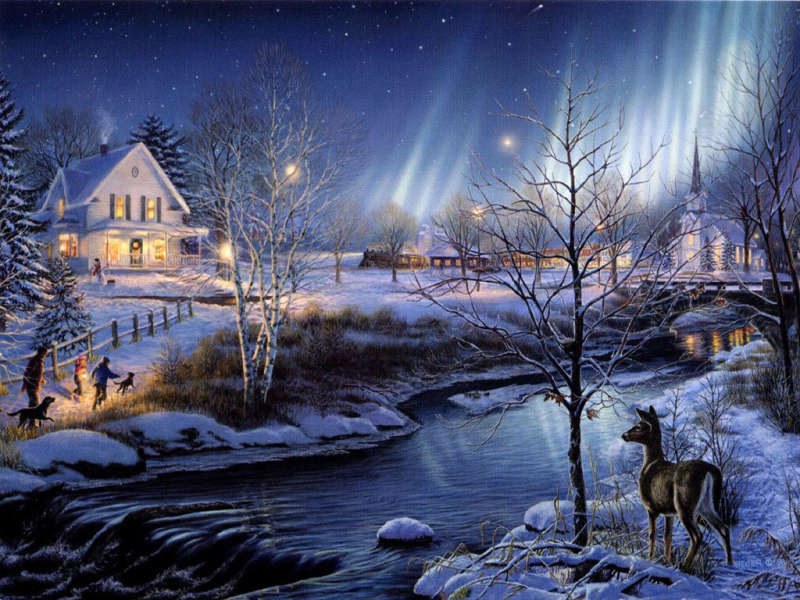 Amazing evening on christmas night