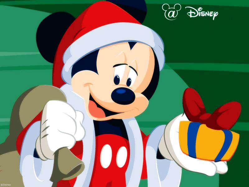 Mickey Mouse as Santa Claus