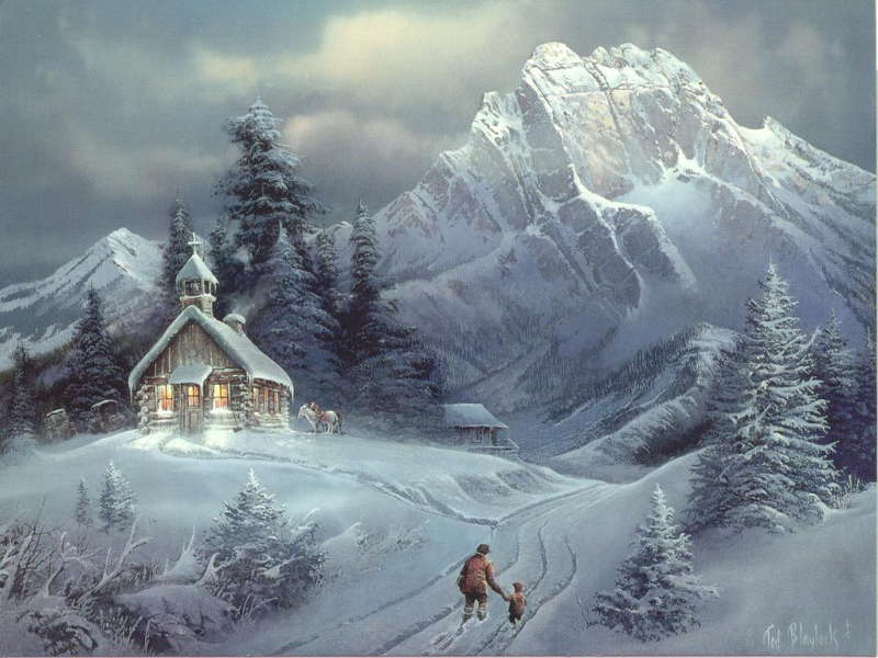 Lonely House on Christmas Day