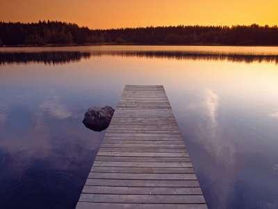 Beautiful Light At Dusk, Finland