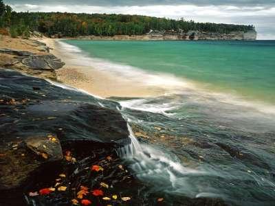 Chapel Beach, Lake Superior, Pictured Rocks National Lakeshore, Michigan