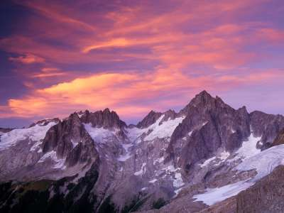 Clouds Over Eldorado Peak At Sunset, North Casca