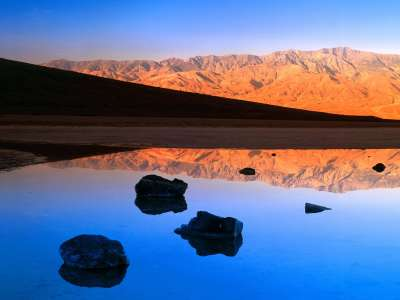 Dawn, Badwater, Death Valley, California   1600x