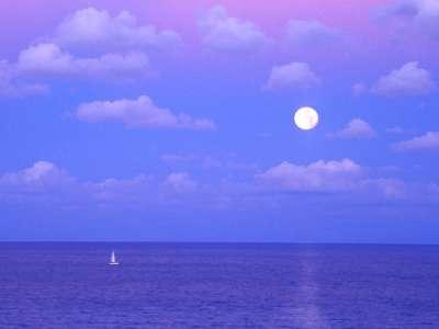 Enchanted Moonrise, Cancun, Mexico