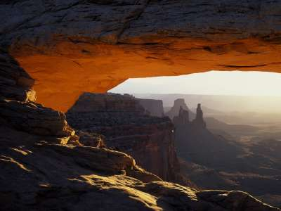 First Light On Mesa Arch, Canyonlands National P