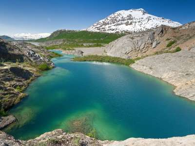 Lake Along The Alsek River, British Columbia, Canada