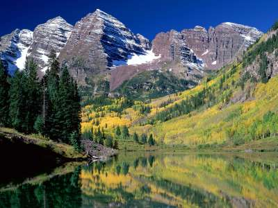 Maroon Bells, White River National Forest, Color