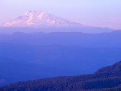Mount Adams, Columbia River Gorge, Oregon And Washington