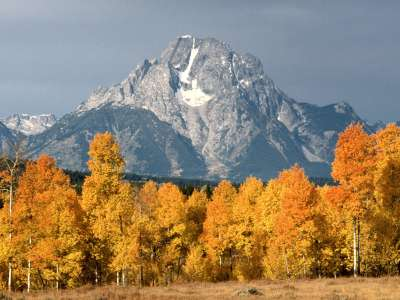 Mount Moran on Autumn day in Wyoming