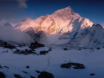 Mount Nuptse, Himalaya Mountains, Nepal