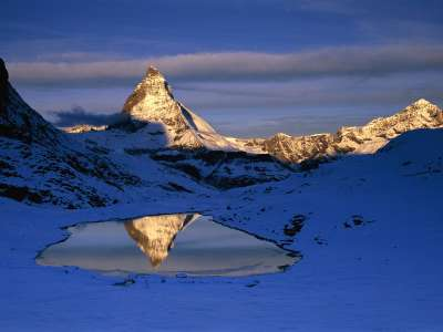 Reflected Matterhorn, Switzerland