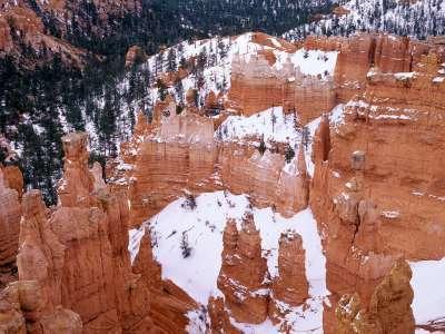 Snowy Bryce Canyon, Utah   1600x1200   ID 36294