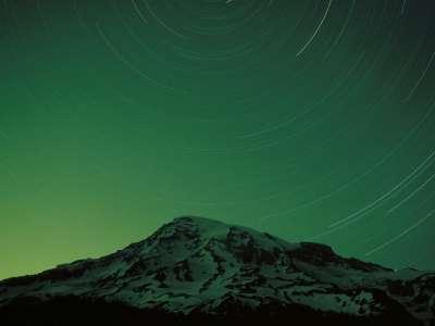 Star Trails, Mount Rainier, Washington   1600x12