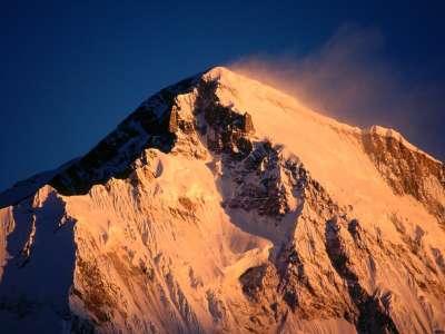 Sunrise mountain Cho Oyu, Khumbu Region in Nepal