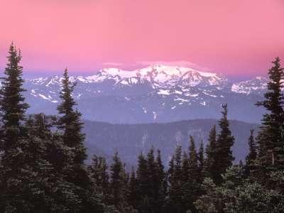 Sunrise Over Mount Olympus,  Olympic National Pa