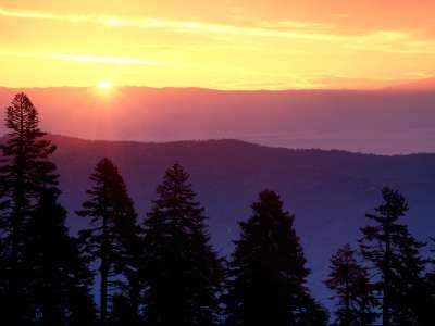 Sunrise At Plaskett Ridge, California   1600x120