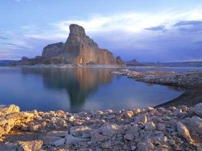 Sunrise On Gunsight Butte, Padre Bay, Arizona