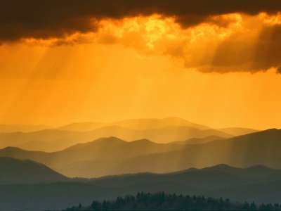 Sunset From Clingmans Dome, Great Smoky Mountain