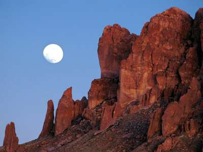 Superstition Mountains, Praying Hands Formation,