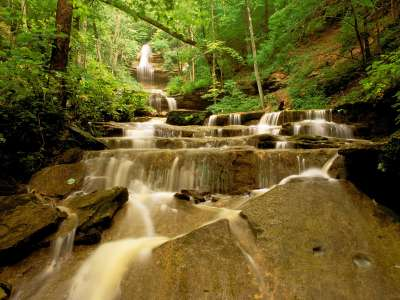 Tioga Falls, Fort Knox Military Reservation