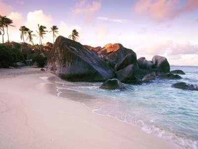 Virgin Gorda Island At Sunset, British Virgin Islands, West Indies