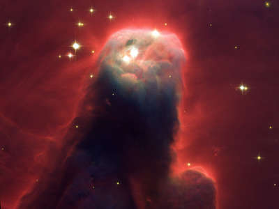 Star Forming Pillar Of Gas And Dust