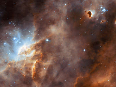 Star Formations In Neighbouring Galaxy
