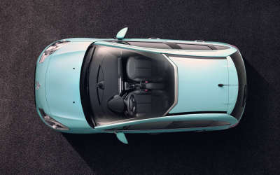The top view of new Citroen C3