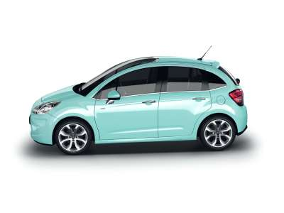 The side view of new Citroen C3