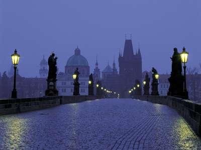 Prague At Dusk Czech Republic