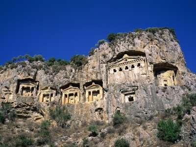 Rock Tombs Dalyan Turkey