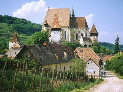 Saxon Fortified Church Of Biertan Near Sighisoara Transylvania Romania