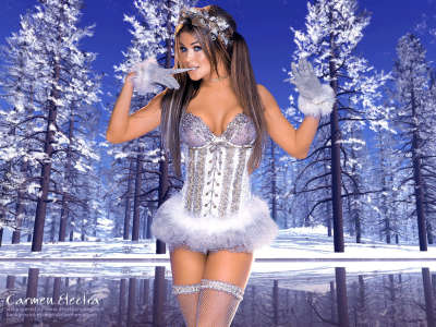 Carmen Electra as Santa Claus