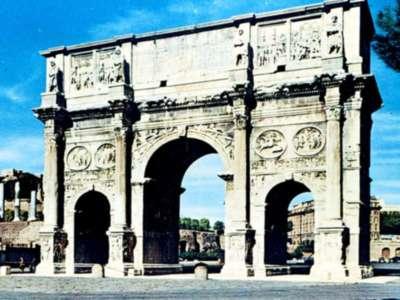 Arch, Roman, Arch Of Constantine, Rome