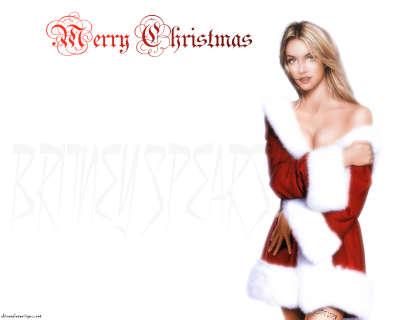 Britney Spears as Santa Claus