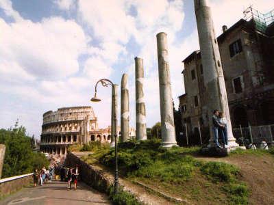 Rome Colliseum Approach
