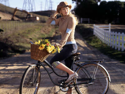 Carrie Underwood on Bicycle