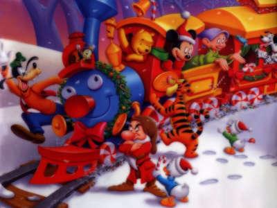 Walt Disney Christmas Train