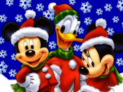 Mickey Mouse, Donald Duck and Minnie Mouse